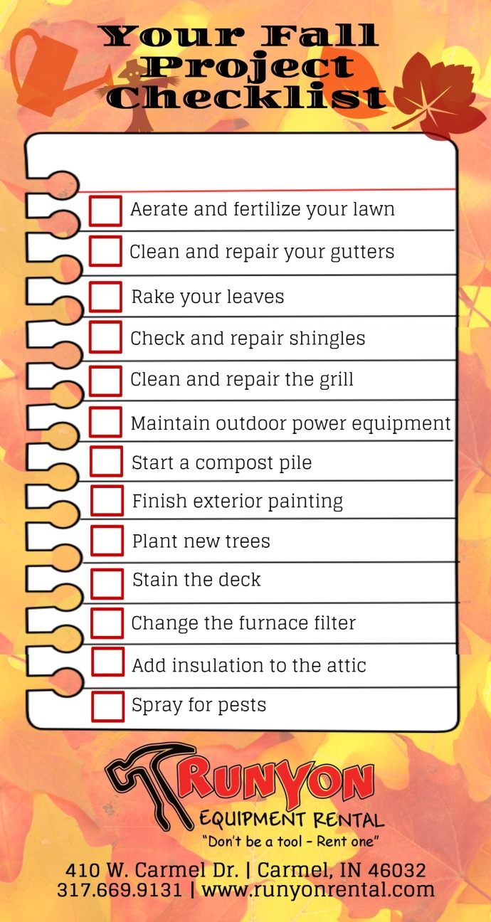 Fall Project Checklist