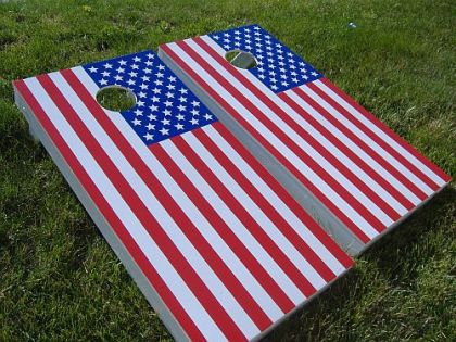 DIY American Flag Cornhole Set